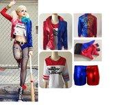Harley Quinn Compleet Suicide Squad Kostuum S M  Cosplay Kwaliteit