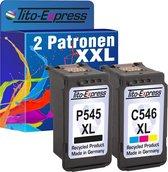 Tito-Express PlatinumSerie Voordeelset voor 1x Canon PG-545 XL & 1x Canon CL-546 XL alternatief voor Canon PG-545XL & CL-546XL