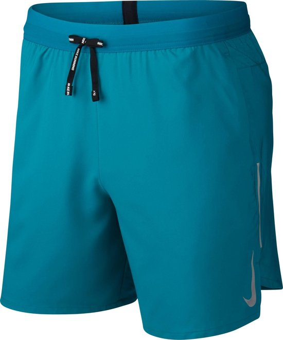 Nike Nk Flx Stride Short 7In Bf Sportbroek Heren - Bright Spruce/Reflective Silv - Maat S
