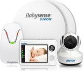 Bol.com-Luvion Essential Babyfoon met Camera + Babysense 7 - Sensormatje - Veiligheidsvoordeelbundel-aanbieding