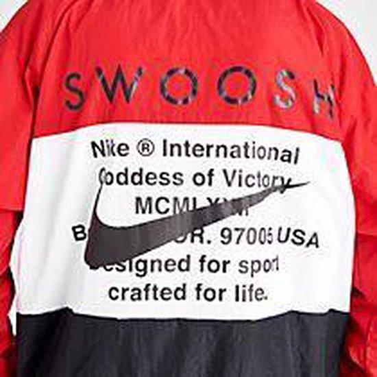 Nike Nsswoosh Jkt Hd Wvn Sporttrui Heren University Red/white/black/black