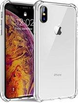 Transparant Shock proof Hoesje Apple iPhone X / Xs / 10  Siliconen TPU Case - met verstevigde randen