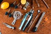Cocktail Shaker Set - 11-delig - 750ml - Zilver - Receptenboekje