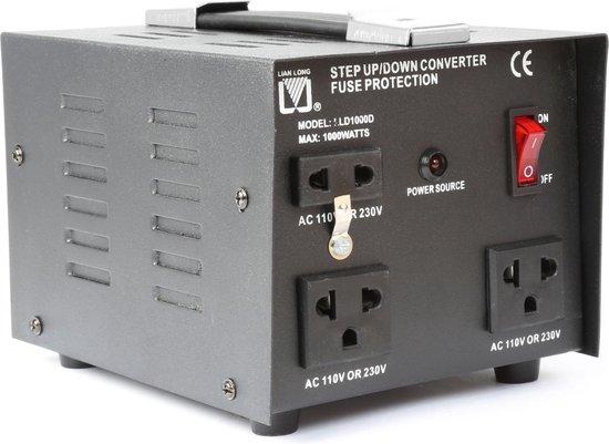 Omvormer 220 -> 110 volt en 110 -> 220 volt 1000 watt