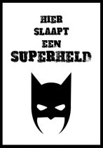 Kinderposter Superheld A4
