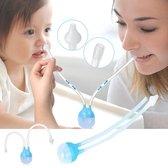 WiseGoods - Baby Neuszuiger - Baby Neusreiniger - Neussnuiter - Neuspompje - Toetenveger - Snoetenpoetser - Tegen Verkoudheid - Baby Hulp - Verschonen neus - Blauw