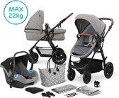 Kinderkraft XMoov 3 in 1 Kinderwagen - Inclusief Autostoel - Grey