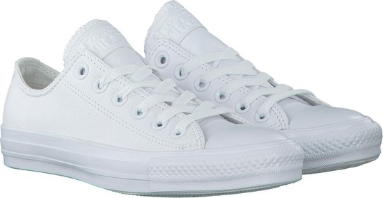 Converse - As Ox Sneaker Laag Sportief Dames Maat 41 Wit Mono White Leather eimq0z