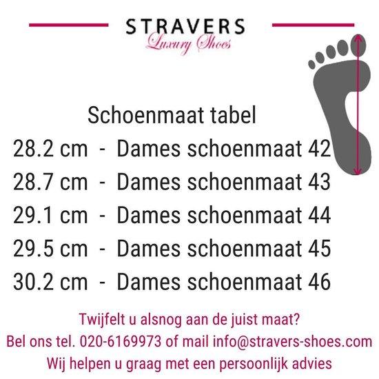 Stravers - Maat 44 Pumps Met Bandje Grote Maten Luxe Hakken Zwart Leer uTj9PP