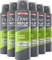 Dove Men+Care Extra Fresh Anti-Transpirant Deodorant Spray - 6 x 150 ml - Voordeelverpakking