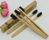 Set van 5 stuk(s) Bamboe Tandenborstel