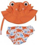 Zoocchini UV zwemluier setje Charlie the Crab 3-6 maanden