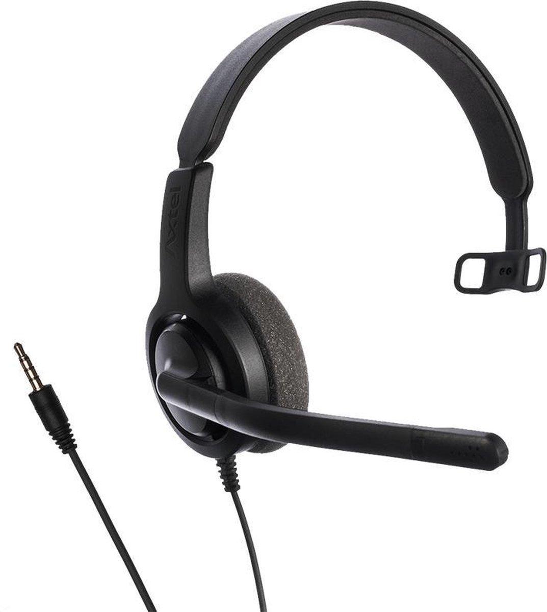 Axtel Voice PC28 mono 3,5mm jack koptelefoon (voor PC/Laptop/Tablet/Telefoon)