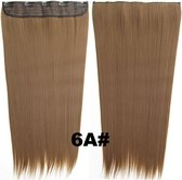 Clip in hair extensions 1 baan straight bruin 6A#