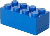 Lego Mini Box 8 Lunchbox - 4,6x9,2x4,3 cm - Blauw