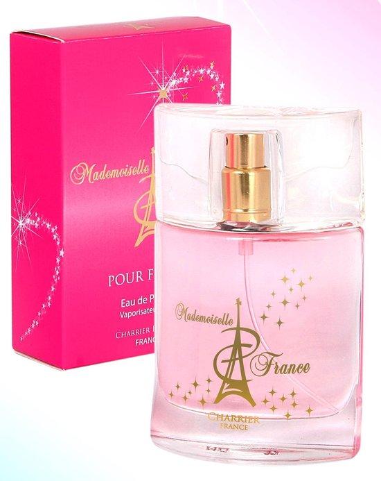 Mademoiselle Femme, een niet overdreven sterke bloemige geur (origineel uit Grasse van Paul Charrier)