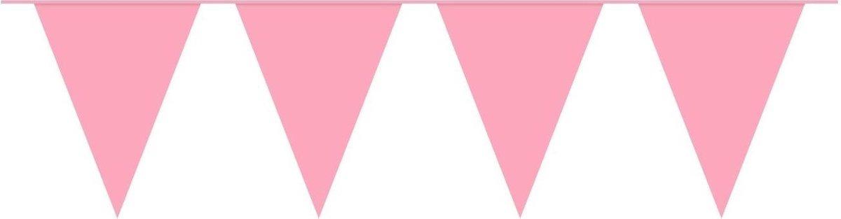 Slingers Vlaggenlijn Roze 10 Meter Gender Reveal Verjaardag Voor Binnen En Buiten