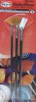 Meyco Hobby Set van 3 Waaierpenselen | Fan brush set