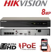 HIKVISION 4CH 8MP NVR IP Netwerk POE HDMI FULL HD 1080P 4K UHD Digitaal Bewakingscamera Recorder Systeem UP TO 6TB H.254 H.265 Home Office Werkplek PRO DS-7604NI-K1/4P (Geen HDD)