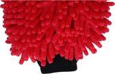Rasta washandschoen rood