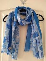 Blauwe sjaal Emma