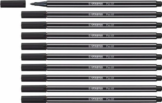 Afbeelding van STABILO Pen 68 - Premium Viltstift - Zwart - Doos 10 stuks