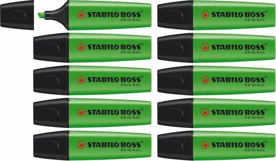 STABILO BOSS ORIGINAL Markeerstift Groen - doos à 10 stuks