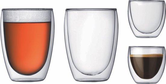 Bodum Pavina Dubbelwandige Glazenset - 2x 0.08 l - 2x 0.35 l