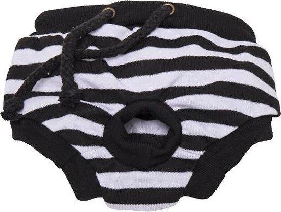 Loopsheidbroekje - zwart gestreept - maat XL-Animal King