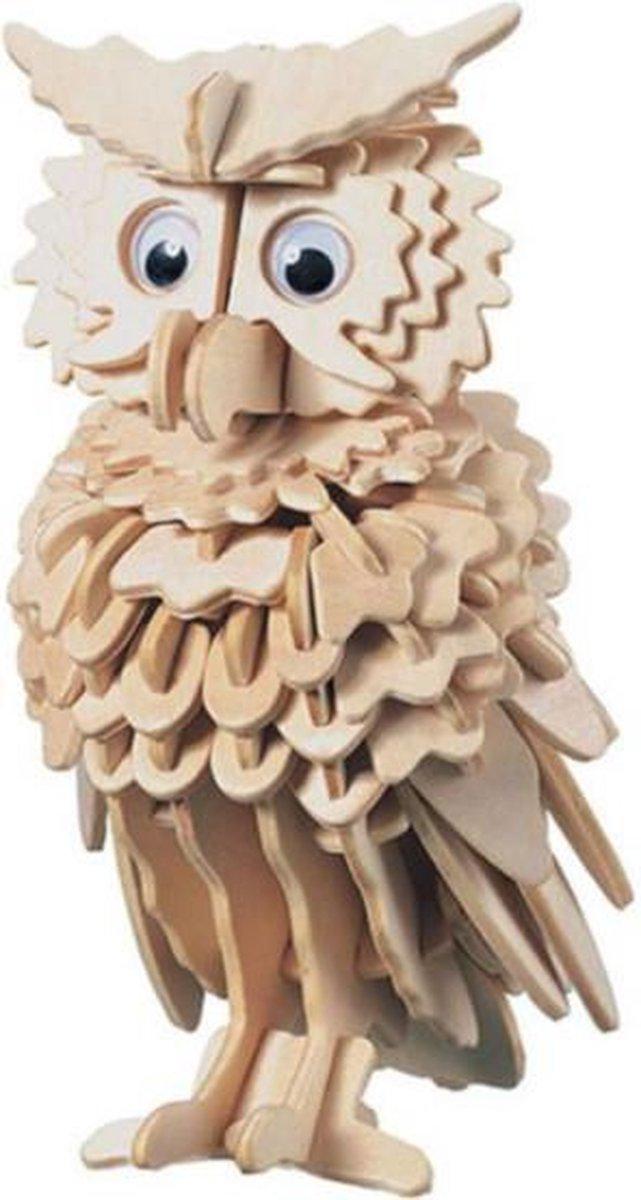 Bouwpakket 3D Puzzel Uil - hout