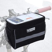 DUUTI XL Fiets Stuurtas - Grote Afneembare Fietstas Stuur Met Smartphone / Telefoon Houder & Kaartlezer (Kaarthouder) - Afneembaar - Waterproof