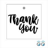 20 bedankt kaartjes - Thank You - 7 x 7 cm