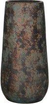 Mica Decorations clemente ronde vaas koper maat in cm: 35 x 17