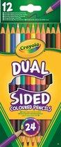 Crayola 12 Duo-kleurpotloden (24 kleuren)