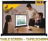 """Tafelscherm 50"""" - 127 cm (diagonaal) - 16:9 - beamer/projectie scherm"""