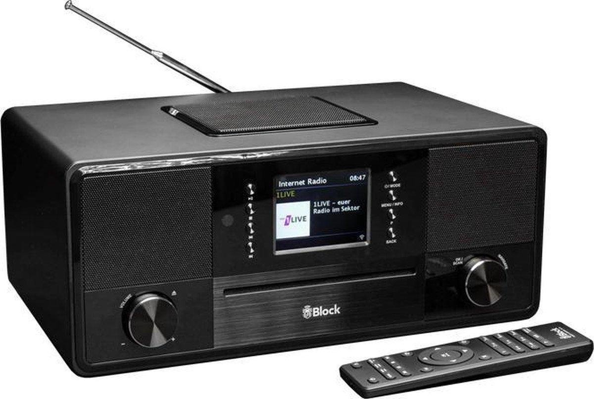 Audioblock SR-50 radio Internet Digitaal Zwart