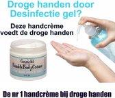 Ambachtskroon handcreme, na desinfectie gel, droge handen, desinfectie,handgel,sanitizer
