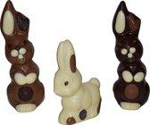 Jamin Set Paas chocolade figuren M - 12 en 17 cm - melk, wit en puur