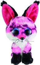 Lumo Stars Knuffel Fox Rhubarb Junior 15 Cm Pluche Zwart, Roze