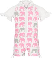 Snapper Rock - UV zwempak - korte mouwen - kinderen - Roze olifant