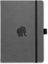 Dingbats A5+ Wildlife Grey Elephant Notebook - Dotted
