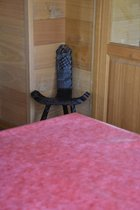 Zomerse Tafellakens - Tafelzeil - Tafelkleed - Duurzaam - Gemakkelijk in onderhoud - Opgerold op dunne rol - Geen plooien - Uni Rood - 140cm x 160cm
