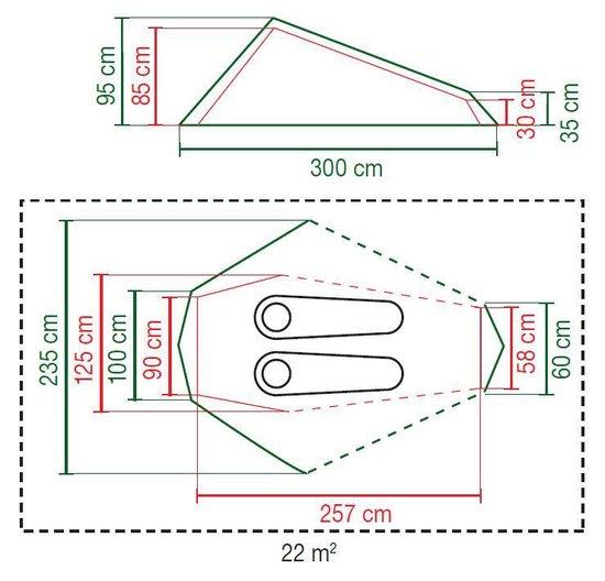 Coleman Batur 2 Lichtgewicht tent -  Verduisterend - 2-Persoons