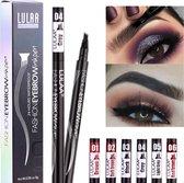 LULAA Microblade Pen - Watervaste Wenkbrauwpen - DONKERBRUIN - Waterproof Tattoo Pen - make up - Microblading - Eyebrow