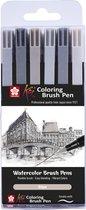 SAKURA Koi Coloring Brush Pen | Brushpen met penseelpunt (6 kleuren)