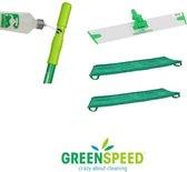 Greenspeed Sprenkler dweilset met 2 microvezel vlakmoppen