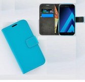 Samsung Galaxy A5 (2017) smartphone hoesje wallet book style case turquoise