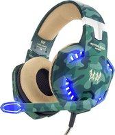 KOTION EACH G2600 gaming-headset met stereo USB-microfoon voor PS4-laptops (camouflage groen)