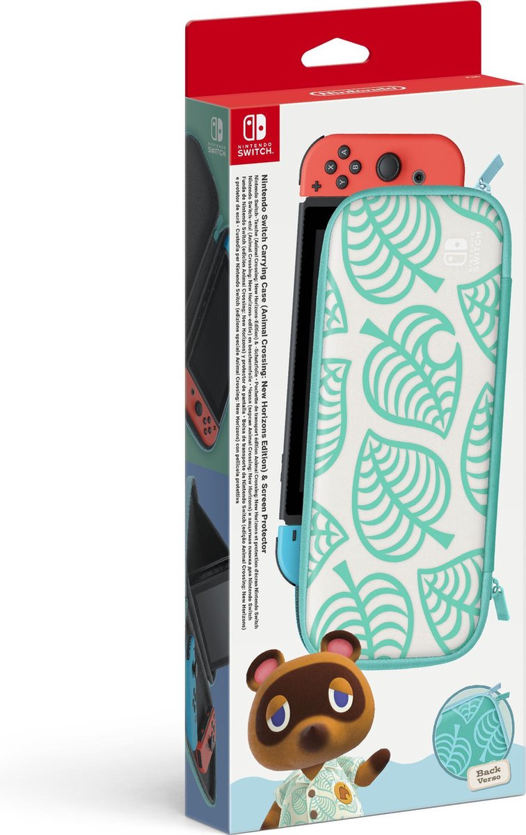 Nintendo Official Switch Carrying Case - Animal Crossing New Horizon Edition + Screen Protector - Sw