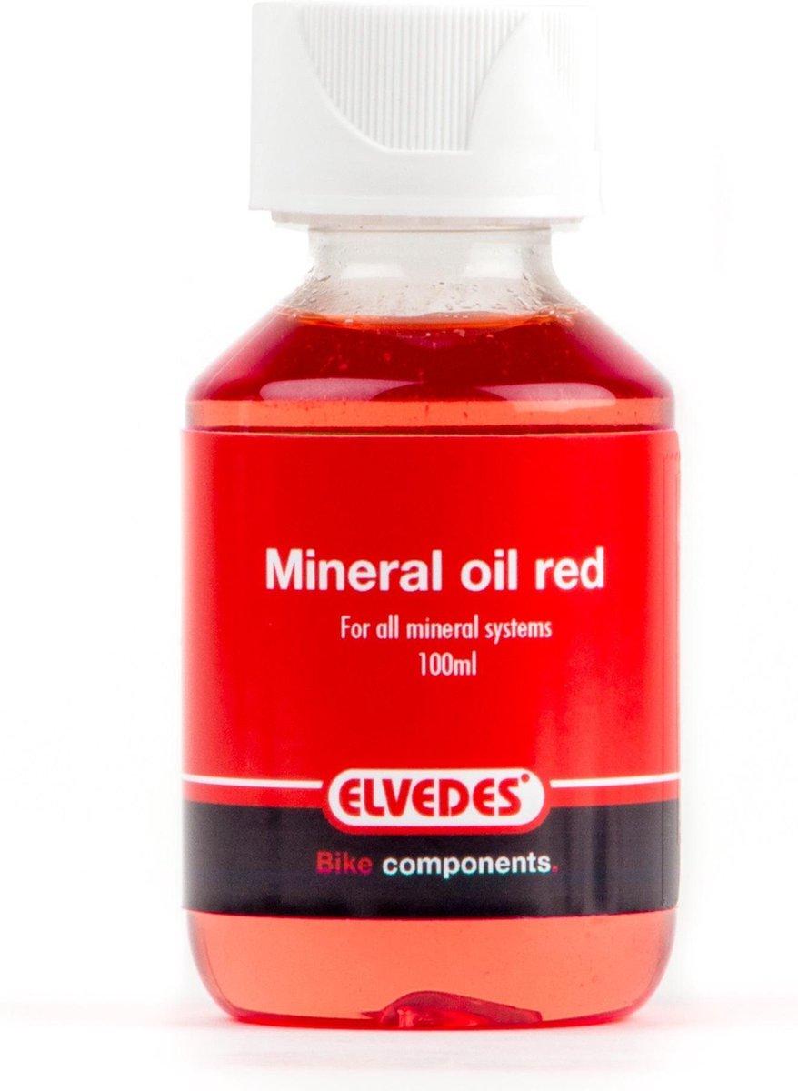 Elvedes mineraal olie - remvloeistof 100ml rood